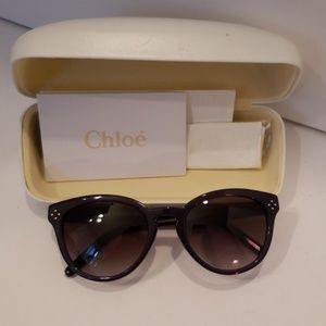 Chloe' navy blue sunglasses